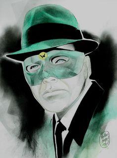 THE GREEN HORNET Original Comic Art by Shelton Bryant