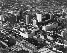 Vintage Uptown Charlotte Aerial by UNC Charlotte - Stake Your Claim, via Flickr