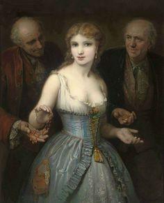 A Popular Courtesan by French Painter Stephane Baron 1830 - 1921 http://www.painterlog.com/search/label/Baron%20St%C3%A9phane