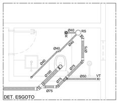 projeto esgoto - Pesquisa Google French Architecture, Architecture Details, Interior Architecture, My House Plans, Technical Drawing, Civil Engineering, Plumbing, Building A House, Construction