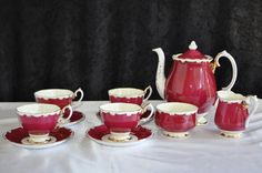 Royal Albert 11 Piece Coffee Set. --- 4 Duo's - Coffee Pot -- Milk Jug --- Sugar Bowl | bidorbuy.co.za