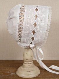 Swiss tattee baby bonnet idea