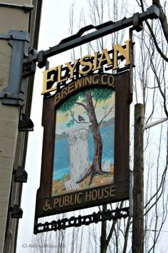 [Elysian Brewing Co sign, hometown love -area]