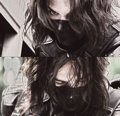 Sebastian Stan as The Winter Soldier in Captain America: The Winter Soldier Sebastian Stan, Captain America Winter, Captain America And Bucky, Stucky, Winter Soldier, Bucky Barnes Imagines, The Dark Side, Bucky And Steve, Dc Movies