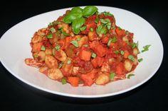 Gebakken gnocchi in tomatensaus uit de DO