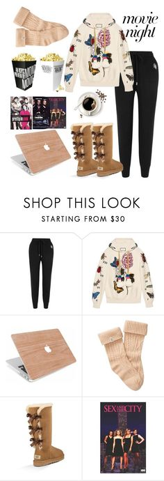 """""""Movie night"""" by valia-dimaridou ❤ liked on Polyvore featuring Markus Lupfer, Gucci, UGG, Frontgate and movieNight"""