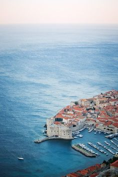 Dubrovnik, Croatia. - Located on a narrow strip of coast between hills and the…