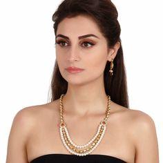 Antique Necklace 38282 #Kushals #Jewellery #Fashion #Indian #Jewellery #Necklace #Earrings #Designer #Fashion #choker #chain #Antique #Bridal #Festive #wedding
