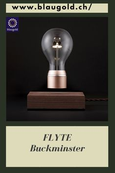Light=Bulb Copper     Description  Floating LED light bulb Swedish real wood base Magnetic coil in the base lets the light bulb hover 15 to 17mm Light bulb receives electricity through induction. #lightbulb #light #bulb #led #lighting