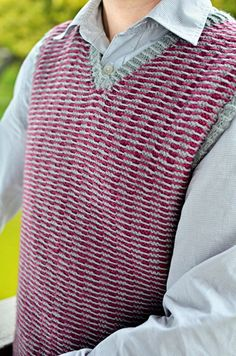 Free Knitting Pattern - Men's Vests: Analog Vest