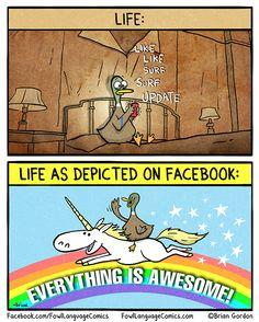 Life VS Life on Facebook | Fowl Language Comics
