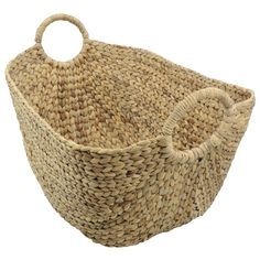 Mand waterhyacint blad Attic Shower, Laundry Basket, Wicker Baskets, Straw Bag, Bags, Inspiration, Interior, Google, Accessories