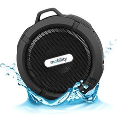 Introducing Mobility AquaPlay Waterproof Bluetooth Speaker Black. Great Product and follow us to get more updates!