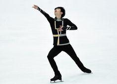 Jin Boyangu of China Mens free skate NHK Trophy, Japan 2015