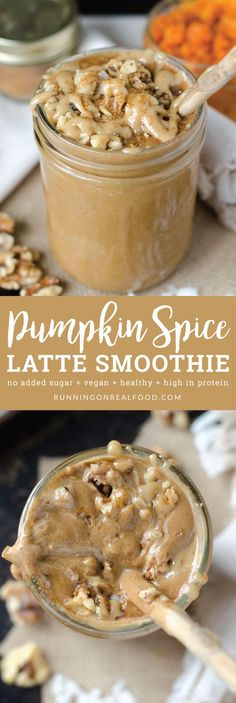 This Pumpkin Spice Latte Smoothie is easy to make, vegan, healthy and oh, so creamy! Made with simple ingredients but tastes amazingly decadent. High in protein, no added sugar, try the This suggestions for yummy toppings!