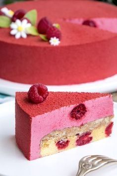 La recette de l'entremets framboise You are in the right place about peanut butter Desserts Here we Raspberry Desserts, Fancy Desserts, Delicious Desserts, Strawberry Mousse, Cupcake Recipes, Baking Recipes, Dessert Recipes, Healthy Recipes, British Baking