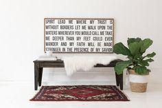 Spirit Lead Me Wooden Sign by HouseofBelongingLLC on Etsy
