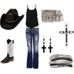 cute country look! Cowgirl Style, Estilo Cowgirl, Cowgirl Outfits, Estilo Boho, Western Outfits, Western Wear, Cowgirl Clothing, Gypsy Cowgirl, Cowgirl Fashion
