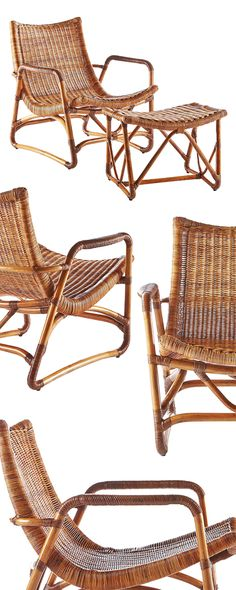 With its laid back silhouette and multiple pieces, this woven set offers a modern take on the iconic wicker armchair. Made from finely woven rattan, this Savannah Lounge Chair and Ottoman set features ...  Find the 2-Pc. Savannah Lounge Chair and Ottoman, as seen in the A Bohemian Cabin in Joshua Tree Collection at http://dotandbo.com/collections/a-bohemian-cabin-in-joshua-tree?utm_source=pinterest&utm_medium=organic&db_sku=115970