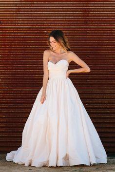 Lea-Ann Belter Diana dress. Image | Tim Melideo | HMU: Colbie Wilson | Florals: Morgan Wynia | Model: Quigley | Venue: Homestead Modern