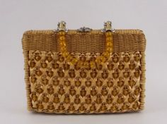 Beaded Wicker Handbag  Summer Purse  Vintage by TheBirdcageVintage, $54.99  #etsy #vintage