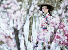 Blooming in Japan  The editorial shot by Russian photographer Danil Golovkin for Collezioni Magazine