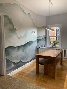 Get inspired by the unique and creative spaces styled by our community and start creating your dream space, today. Tag @muralswallpaper in your Instagram posts for a chance to get your room featured. Dining Room Wallpaper, View Wallpaper, Mountain Wallpaper, Photo Mural, Bird Prints, Office Interiors, Wall Murals, Instagram Posts
