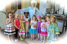 Snow Queen Elsa at a birthday party! www.DreamComeTrueParty.com