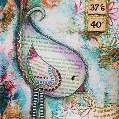 Really want to try mixed media for the Calendar design for College. I'm especially interested in watercolour illustration and collage. Allane Mixed Media Bird on Canvas by CherishedByDees on Etsy. Art Journal Pages, Art Journals, Mixed Media Collage, Mixed Media Canvas, Collage Art, Mixed Media Journal, Altered Canvas, Altered Art, Altered Books