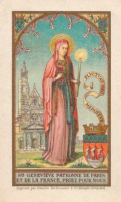 theraccolta:  Ste Geneviève, patronne de Paris et de la France, priez pour nous! St. Genevieve, patroness of Paris and of France, pray for us!