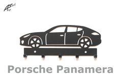 Wieszak na klucze / key rack - Porsche Panamera   Worldwide Shipping  #wieszak #Porsche #Panamera #klucze #design #dekoracja #pomysl #prezent #idea #car #auto #samochod #black #gift #poland #quality #key #gadzet #czarny #wall #hanger #rack Porsche Panamera 4, Special Keys, Powder Paint, Key Rack, Car Images, Hanger, Steel, Garage, Gifts