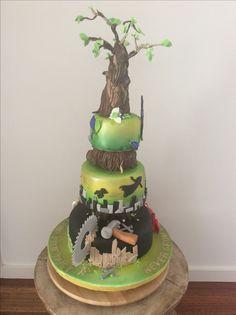 Peter Pan themed 50th birthday cake.