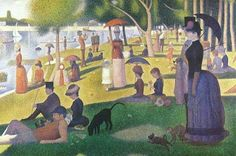 Tarde de domingo en la isla Grande Jatte, 1884-1886, Georges Seurat.
