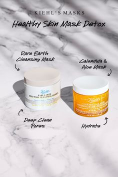 For a healthy skin detox, you don't need a time-consuming trip to the spa. Just follow these simple steps!  1. Apply our Rare Earth Deep Pore Cleansing Mask to your t-zone.   2. Add the Calendula & Aloe Soothing Hydration Masque to your cheeks.   3. Wait 10 minutes. Do something else indulgent.   4. Rinse.  5. Admire your healthy purified skin!