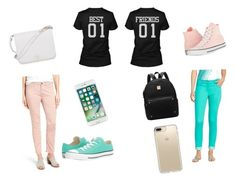 """""""BFF outfits for school hope u like!"""" by calesoncoon on Polyvore featuring St. John, Jen7, Converse, Furla and Speck"""