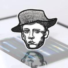 Bügelbild Patch Aufbügler Portrait Mann Van Gogh von mimosch