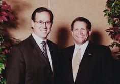 Former Senator Rick Santorum and Chuck Gray