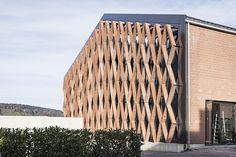 Gramazio Kohler Architekten - Ofenhalle, Pfungen, 2010-2012  Ziegelfassade (www.gramaziokohler.com), best architects in Swizerland