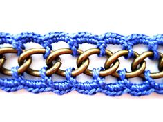 Crochet Chain Bracelet Purple Passion