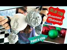 (19) Dollar Store Challenge! DIY Paper Clay and Chalk type Paint - YouTube