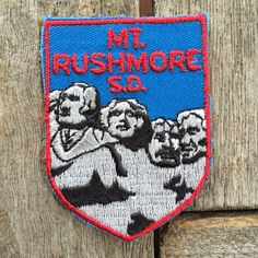 Mount Rushmore South Dakota Vintage Souvenir Travel Patch from Voyager by HeydayRoadTrip on Etsy