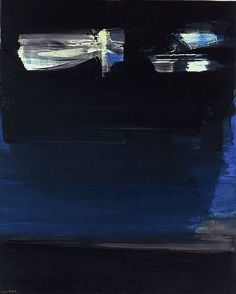 Pierre Soulages - Abstract Art - Informal Painting - 1989