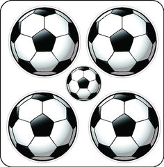 Peel and Stick Soccer Ball Stickers Decals by eyecandysigns, $12.00
