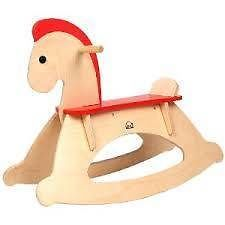 BN Kids Wooden Rocking Horse Toddler Kids Childrens Childs Ride on Toy Hape