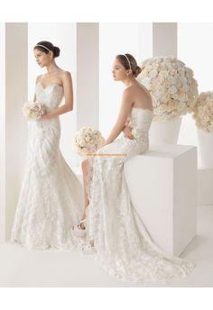 Robe de mariée sirène avec boléro en dentelle