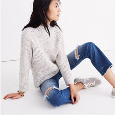 madewell donegal northfield mockneck sweater. #giftwell
