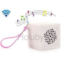 My Vision T9 Outdoor Portable Waterproof Cube Bluetooth Speaker with Strap - White