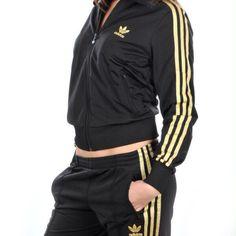 adidas tracksuit - black & gold