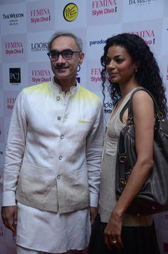 Designer Ravi Bajaj and Model Noyonika Chatterjee