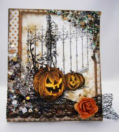 Scrap'n Surprise!: Happy Halloween from Stampendous!  Love this simple card. Great Stamp